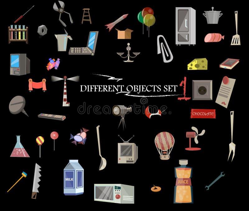 Diversos objetos fijados, colección fotografía de archivo