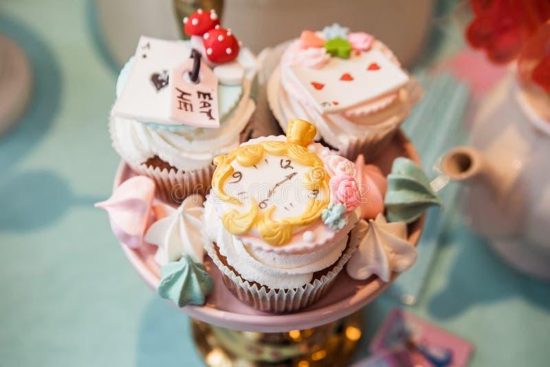 Diversos tartlets apetitosos imagen de archivo libre de regalías