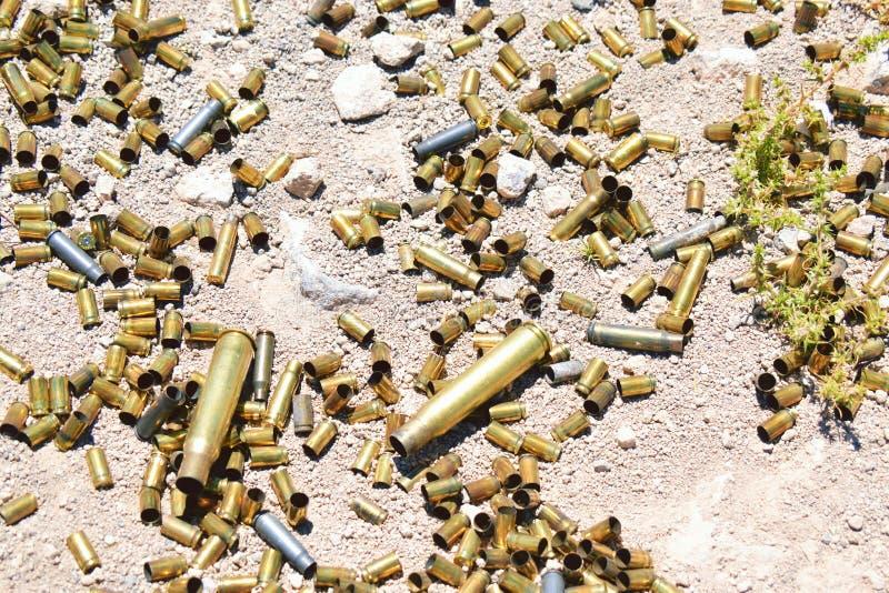 Diversos tipo y tamaño de balas foto de archivo