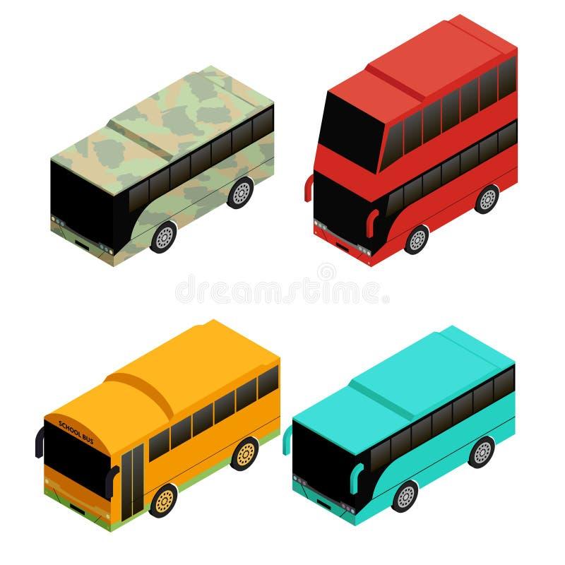 Diversos tipos de autobús ilustración del vector