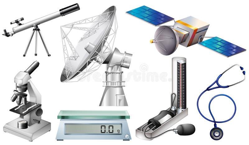 Diversos tipos de dispositivos del techonology ilustración del vector