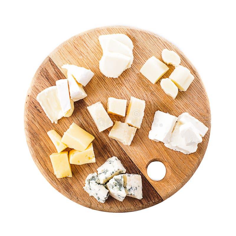 Diversos tipos de queso fotos de archivo