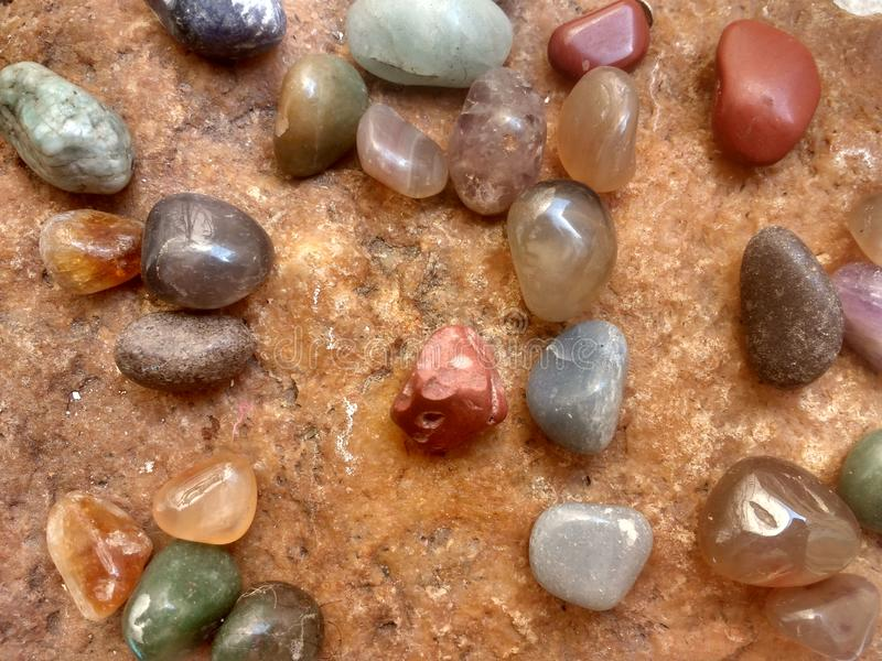 Various types of stones. Diversos tipos pedras diferentes several various types stock photos