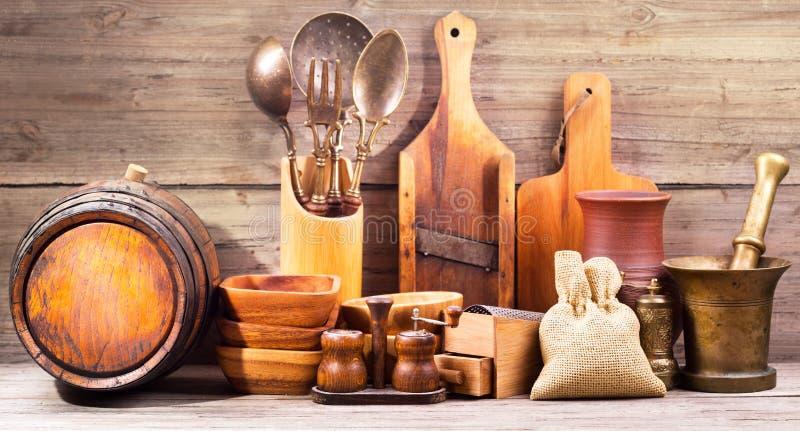 Diversos utensilios de la cocina fotos de archivo