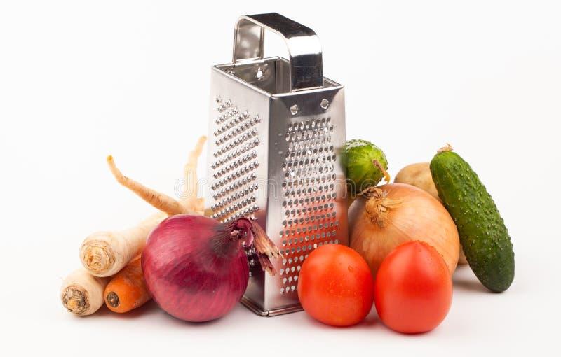 Verduras en blanco fotos de archivo