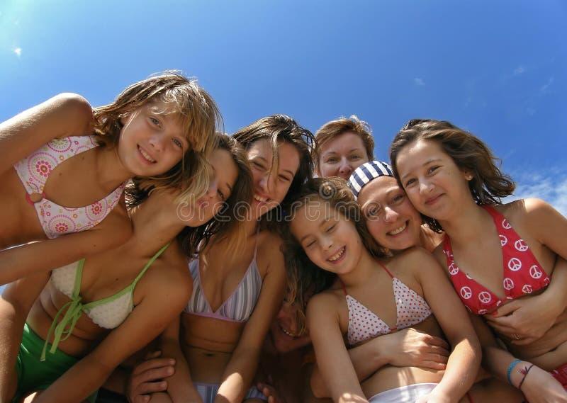 Divertimento 1 do verão da família fotografia de stock royalty free