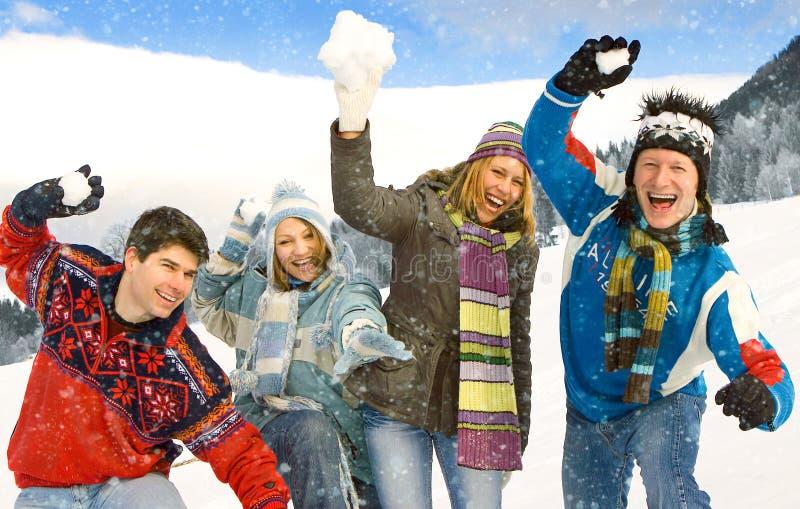 Divertimento 18 di inverno immagine stock