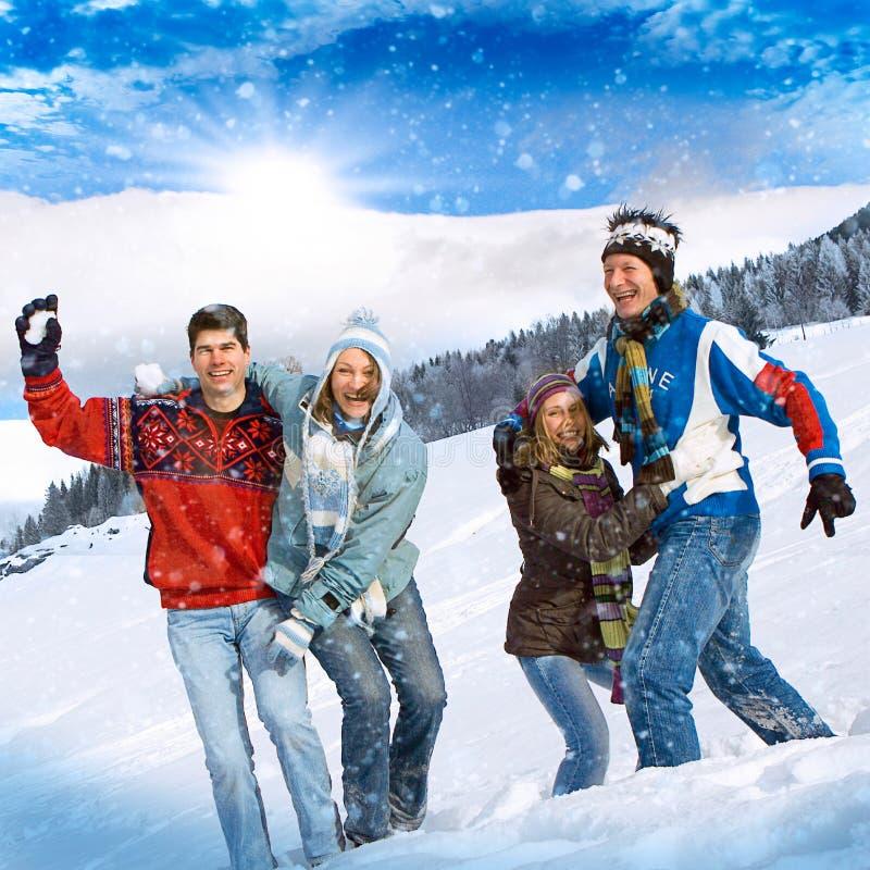 Divertimento 21 do inverno imagens de stock royalty free