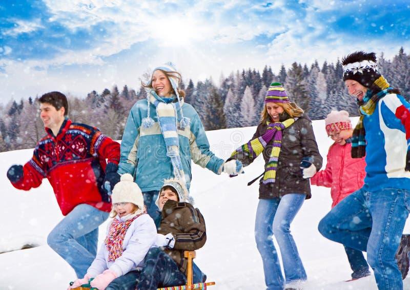 Divertimento 24 di inverno fotografia stock