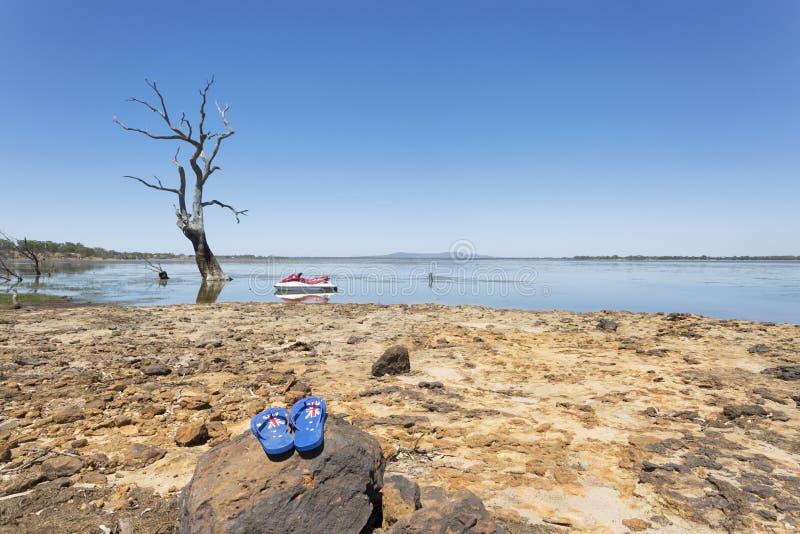 Divertimento all'aperto australiano il giorno dell'Australia fotografie stock libere da diritti
