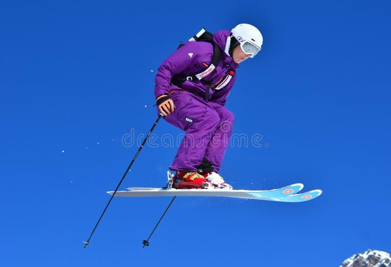 Divertimento alla neve fotografie stock libere da diritti