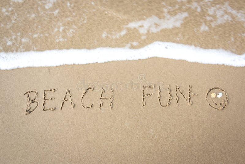 Divertimento alla spiaggia fotografia stock libera da diritti