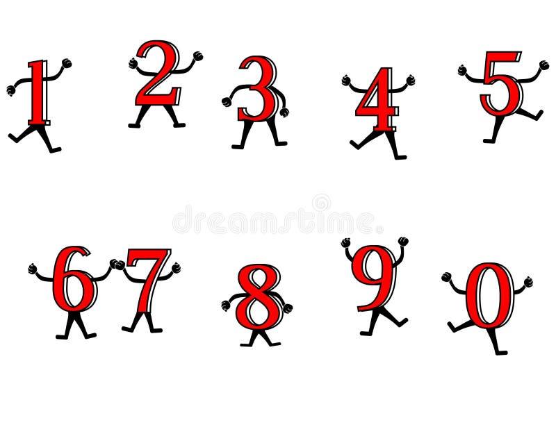 Divertimento com números ilustração do vetor