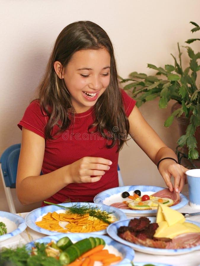 Divertimento con alimento fotografie stock