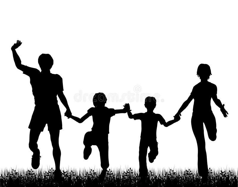 Divertimento da família ilustração royalty free