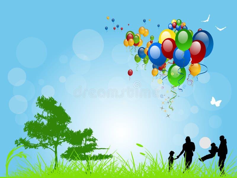 Divertimento da família do verão ilustração royalty free