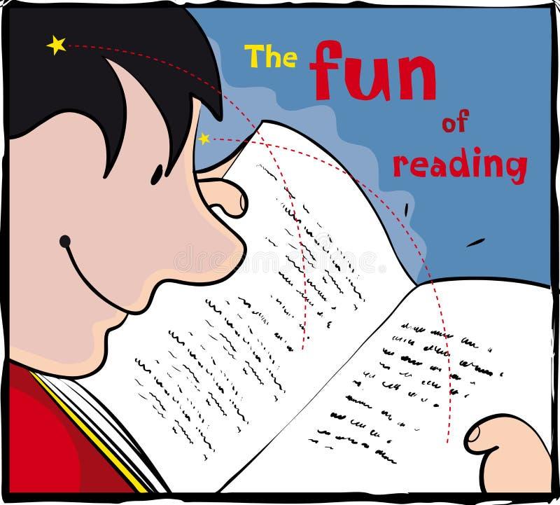 Divertimento da leitura ilustração royalty free