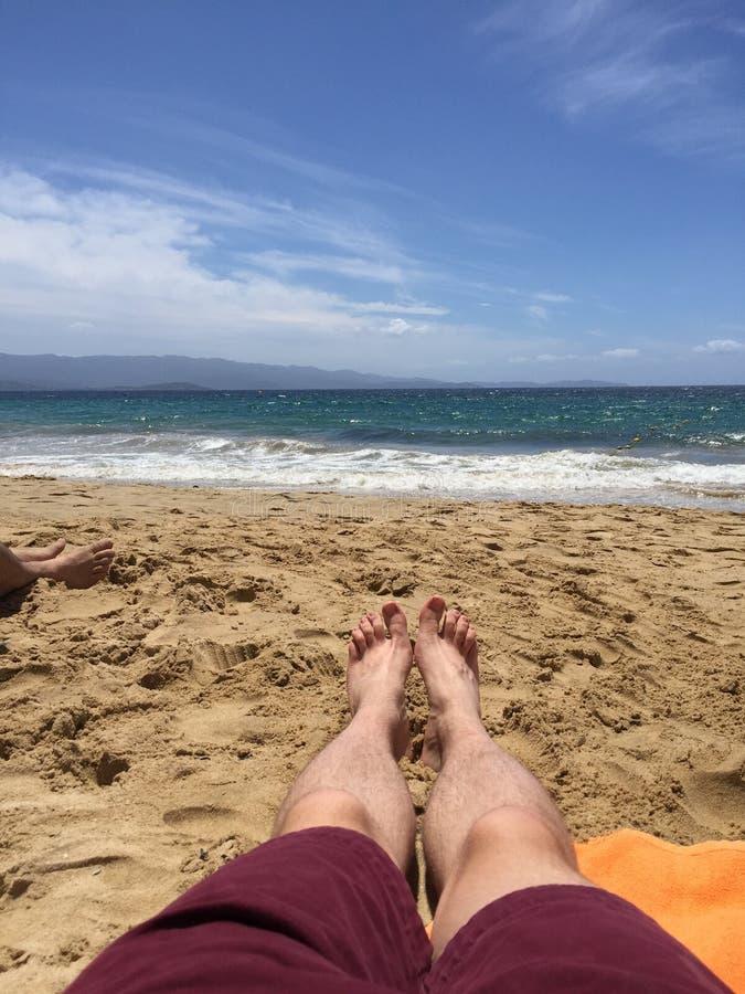 Divertimento da praia do verão foto de stock royalty free