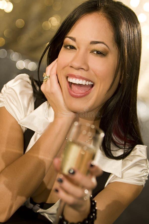 Divertimento de Champagne imagens de stock