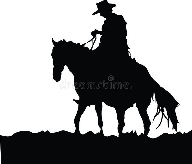 Divertimento del cowboy al sole royalty illustrazione gratis