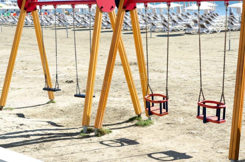 Divertimento del parco della spiaggia per i bambini immagini stock