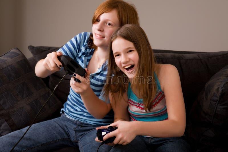 Divertimento del video gioco immagini stock libere da diritti