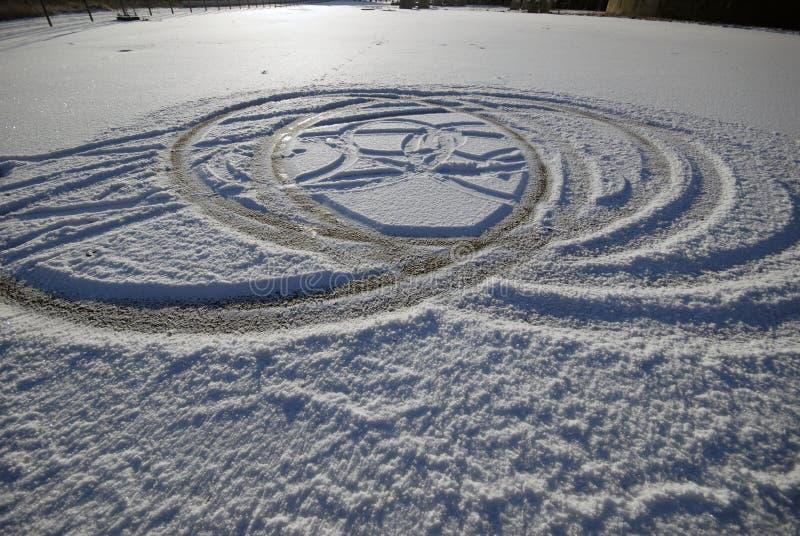 Divertimento dell'automobile di inverno fotografie stock libere da diritti