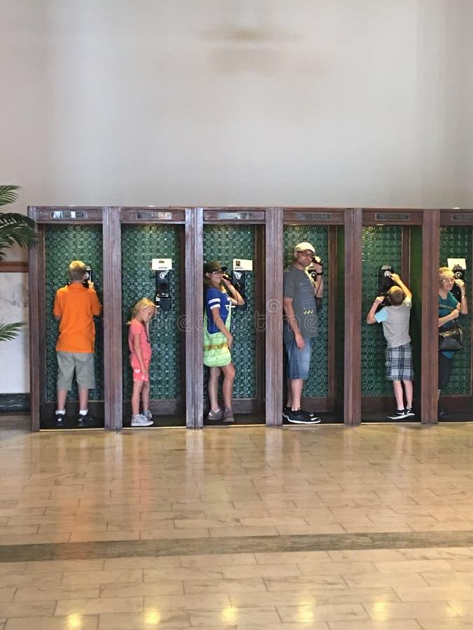 Divertimento della cabina telefonica immagini stock libere da diritti