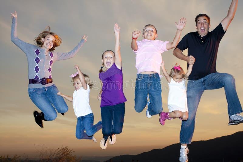 Divertimento della famiglia fotografie stock
