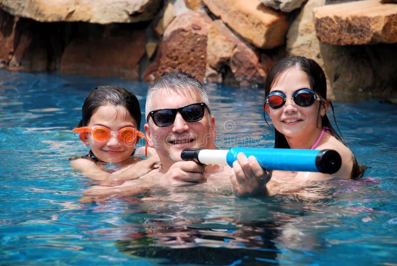Divertimento della famiglia di estate fotografia stock