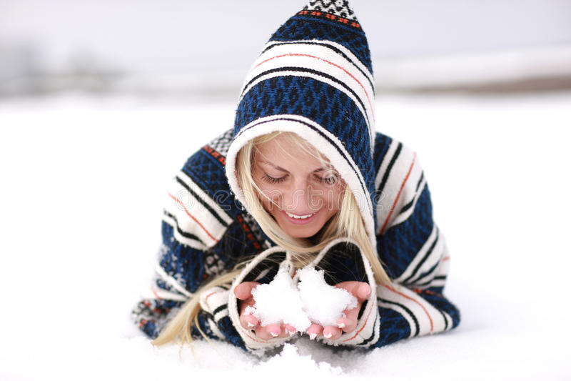 Divertimento della neve immagini stock libere da diritti
