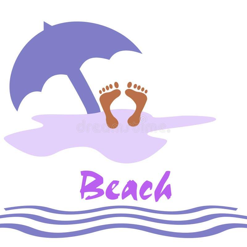 Divertimento della spiaggia illustrazione di stock