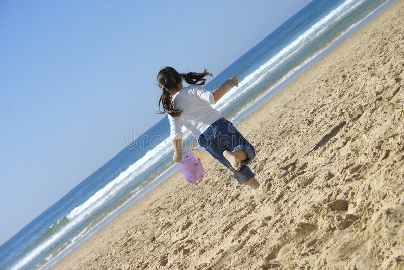 Divertimento della spiaggia fotografia stock