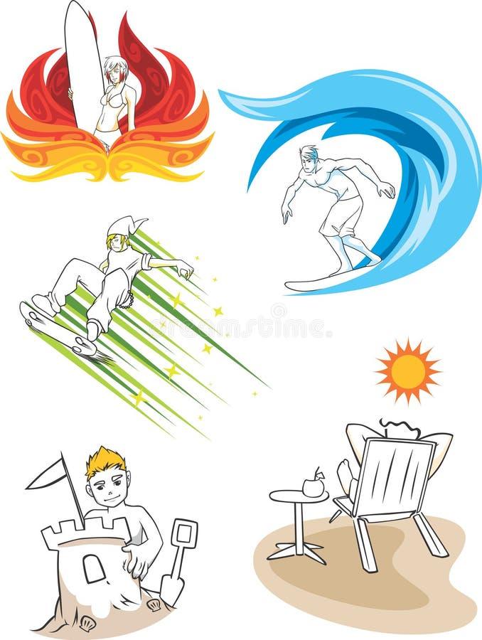 Divertimento di estate illustrazione vettoriale