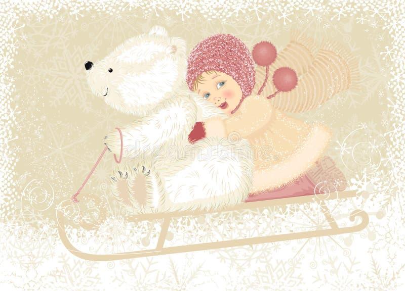 Divertimento do inverno ilustração royalty free