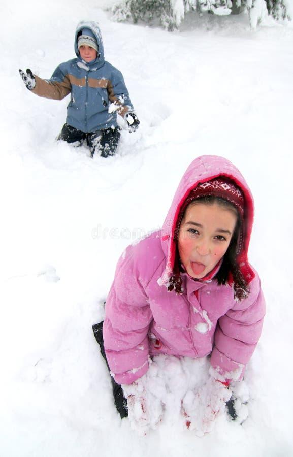 Divertimento do inverno foto de stock royalty free