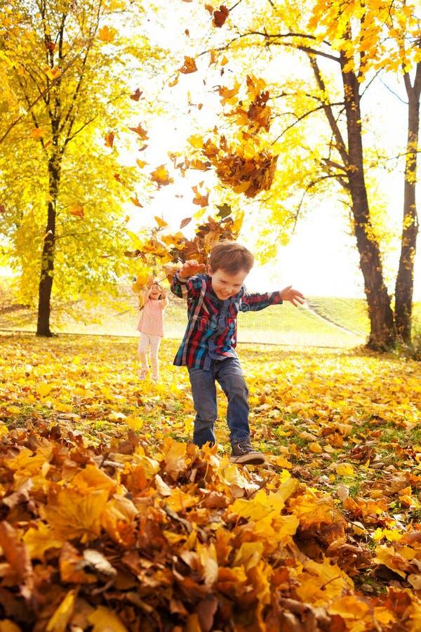 Divertimento do outono foto de stock
