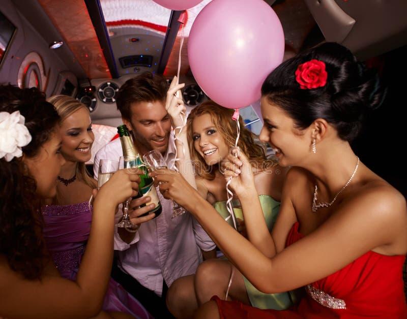Divertimento do partido com champanhe foto de stock royalty free