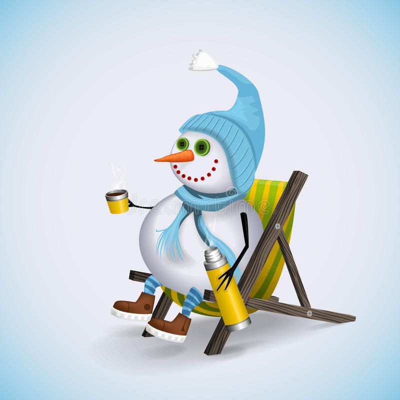 Divertimento dos feriados de inverno Boneco de neve do Natal ilustração royalty free