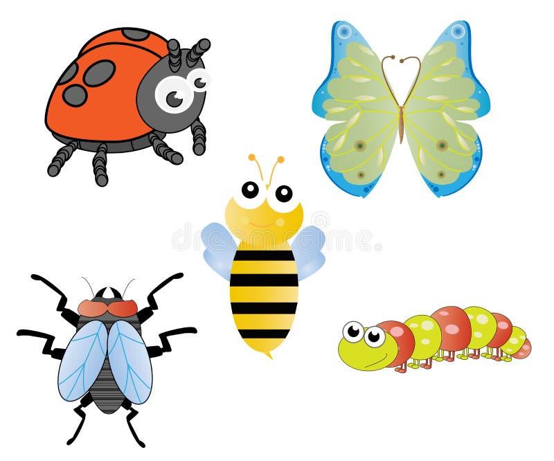 Divertimento e insetos parvos ilustração royalty free