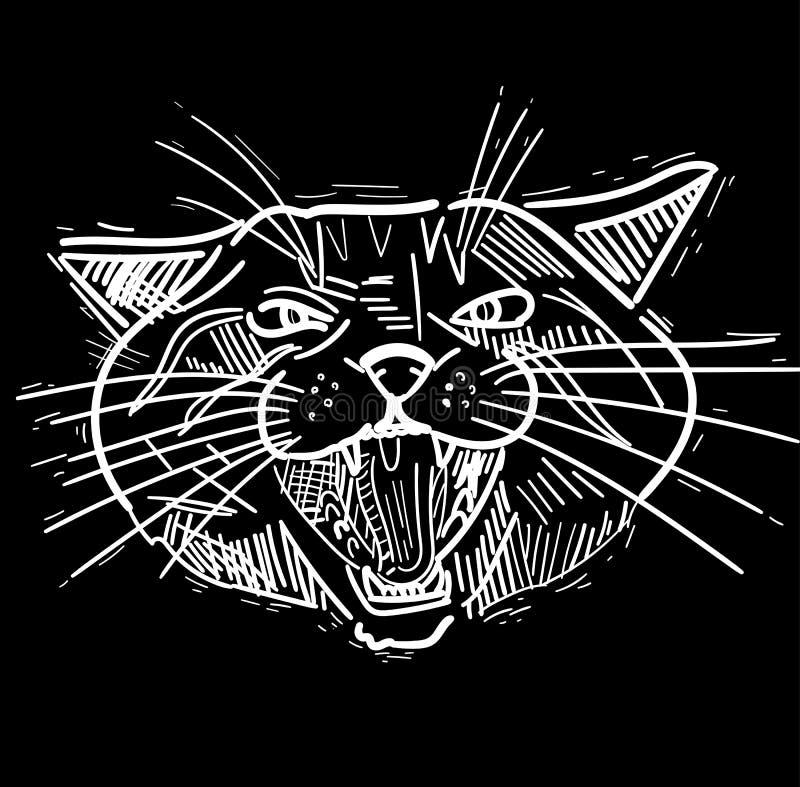 Divertimento, figuras artísticas desenhos do gato dos desenhos animados Estudos originais ilustração royalty free
