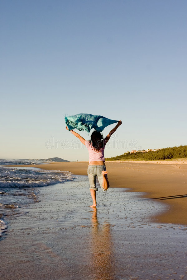 Divertimento na praia imagens de stock royalty free