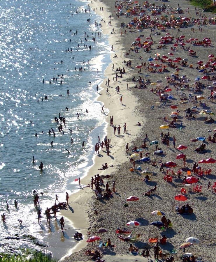 Divertimento nella spiaggia immagine stock