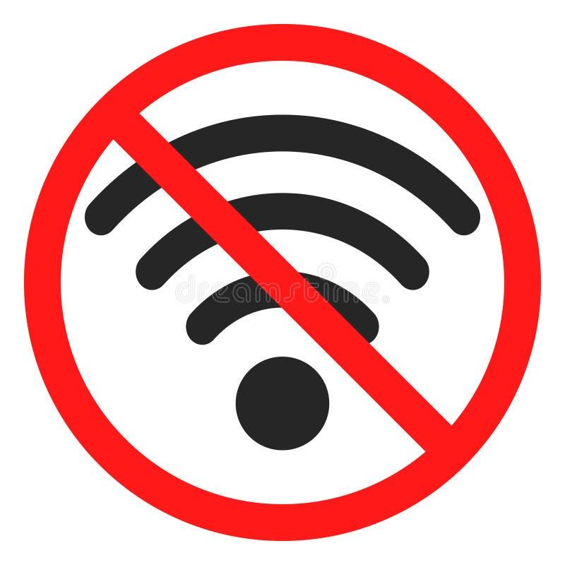 Divertimento nenhum sinal do ícone do wifi ilustração stock