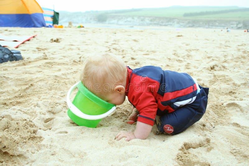 Divertimento sulla spiaggia fotografia stock