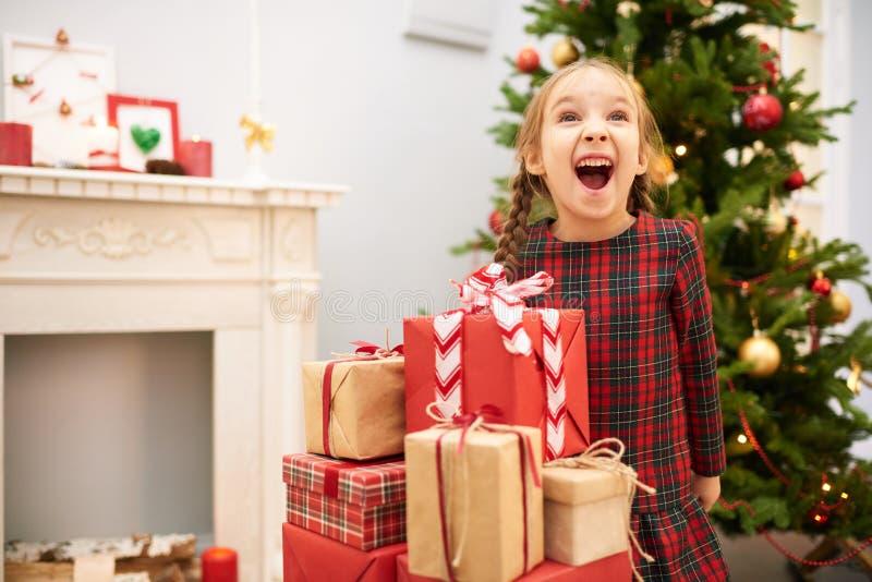 Divertirse en la Nochebuena fotografía de archivo libre de regalías