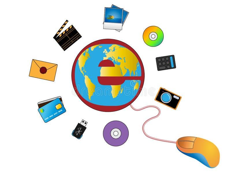 Divertissement d'Internet illustration libre de droits
