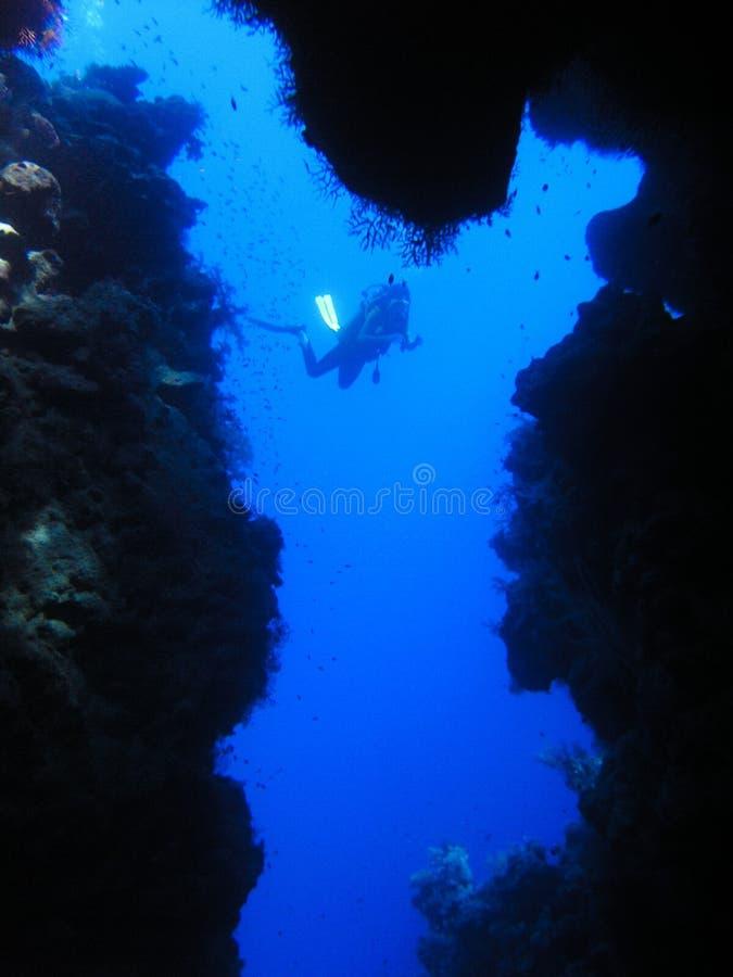 Divet at Cave royalty free stock photo