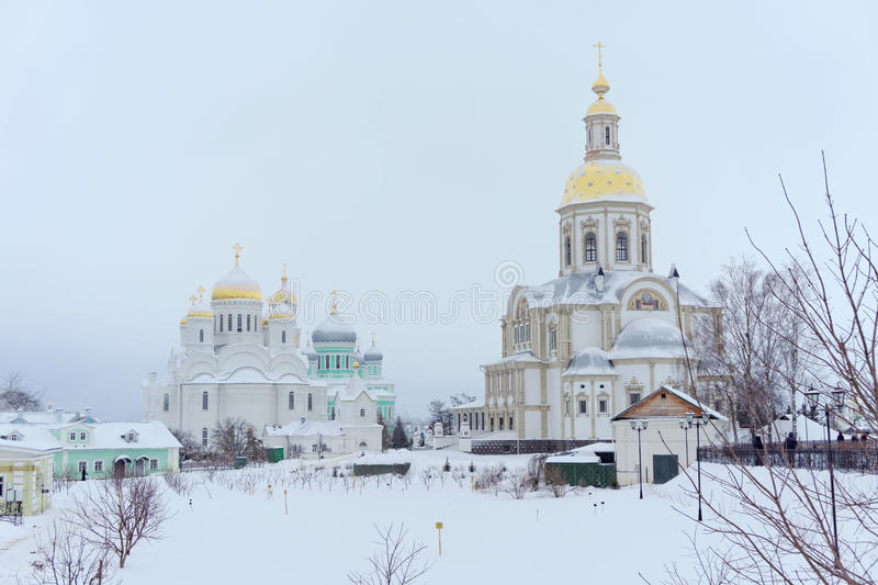 Diveyevo, Russia. - December 25.2016. Cathedral of the Annunciation of the Blessed Virgin Mary in Diveevo Convent stock photography