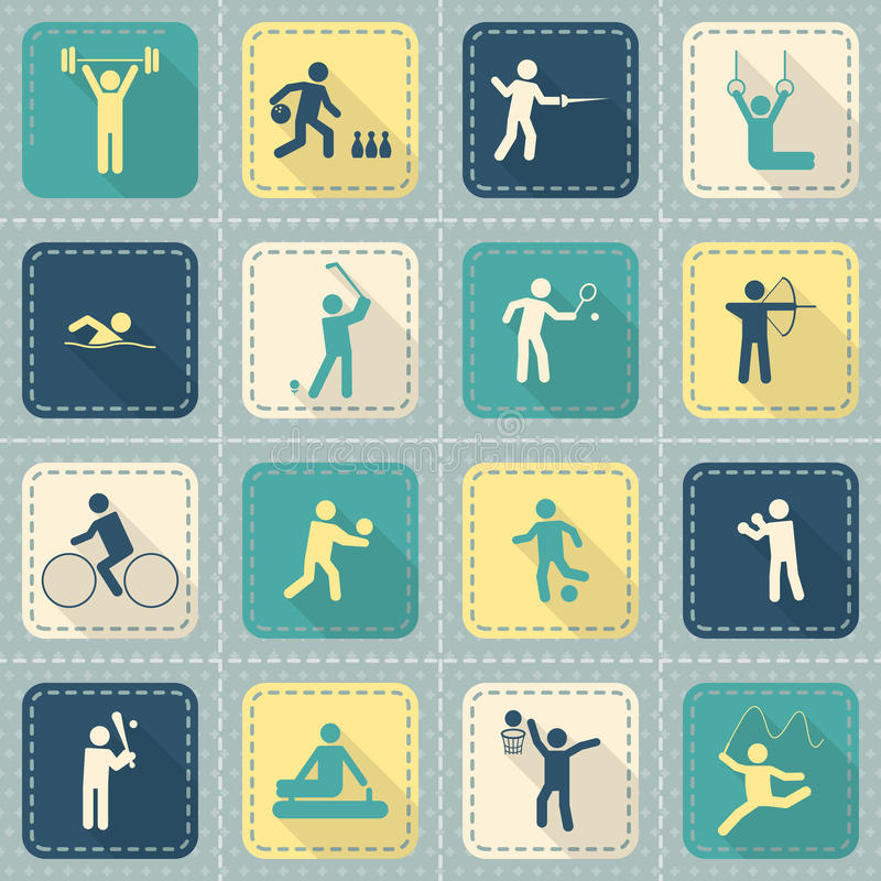 Download Diviértase Los Iconos Fijados Ilustración del Vector - Ilustración de bowling, fencing: 42435972